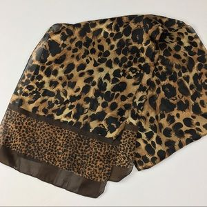 Leopard Print Scarf Hair Tie Bow Collar Accessorie